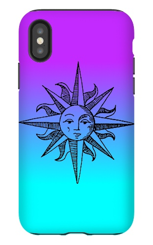 neon sun iPhone X Tough Case Matte