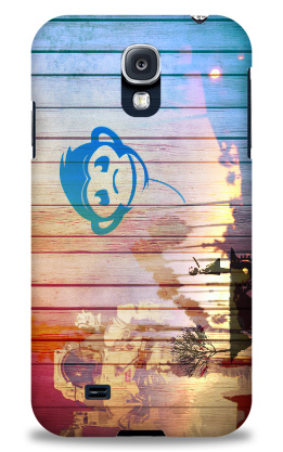 Case Monkey Astronaut Wood Samsung Galaxy S4 Case