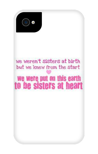 BFF+Sisters iPhone 4 Tough Case