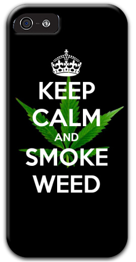 Keep Calm And Smoke Weed iPhone 5 and 5s Thinshield Case