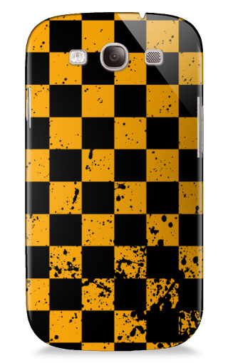 Black and Yellow Checkers Samsung Galaxy S3 Case