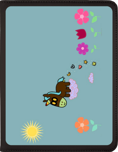 Unicorn Flower Poop iPad 2 to 4 Swivel Black