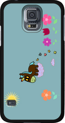 Unicorn Flower Poop Samsung Galaxy S5 Thinshield