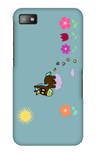 Unicorn Flower Poop Blackberry Z10 Case
