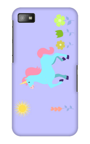Unicorn Flower Field Blackberry Z10 Case