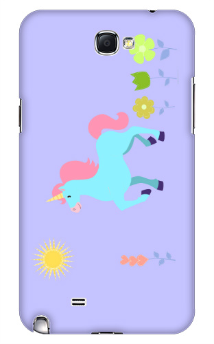 Unicorn Flower Field Samsung Galaxy Note 2 Case