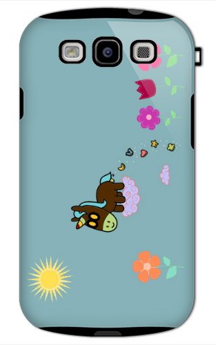 Unicorn Flower Poop Samsung Galaxy S3 Tough Case