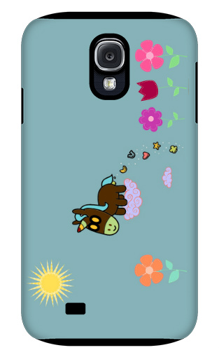 Unicorn Flower Poop Samsung Galaxy S4 Tough Case