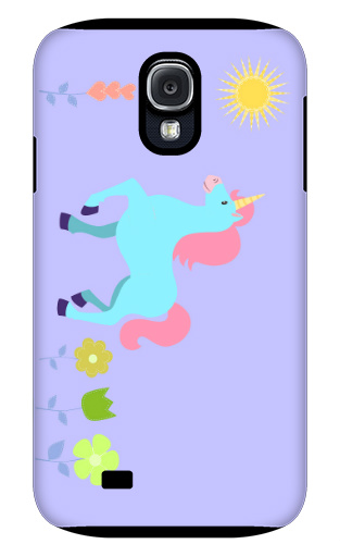 Unicorn Flower Field Samsung Galaxy S4 Tough Case