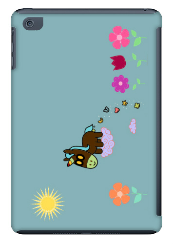Unicorn Flower Poop iPad Mini Case