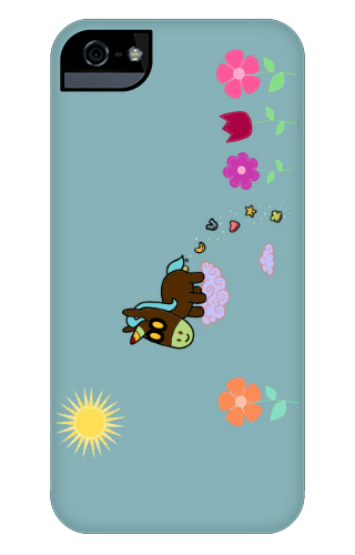 Unicorn Flower Poop iPhone 5 and 5s Tough Case