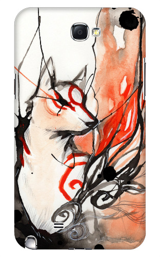 Okami Watercolor Samsung Galaxy Note 2 Case
