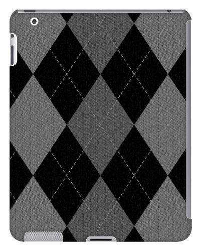 Gray Argyle Pattern iPad 2 and 3 Case