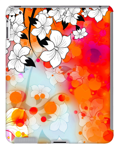Tropical Flower Motif iPad 2 and 3 Case