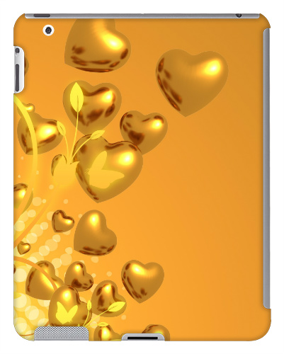 Heart of Gold iPad 2 and 3 Case