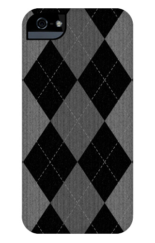 Gray Argyle Pattern iPhone 5 and 5s Tough Case
