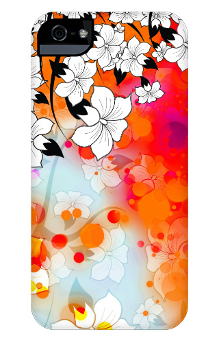 Tropical Flower Motif iPhone 5 and 5s Tough Case