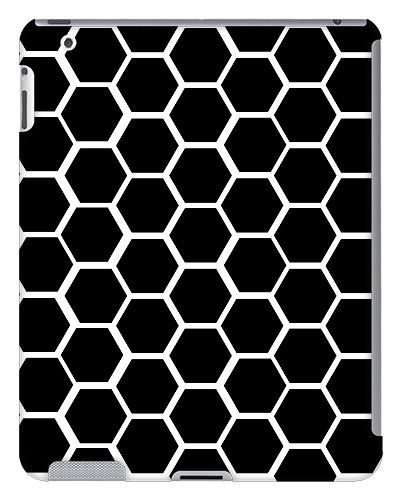 Black Honeycomb iPad 2 and 3 Case