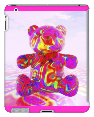 Pink Beary Bear iPad 2 and 3 Case