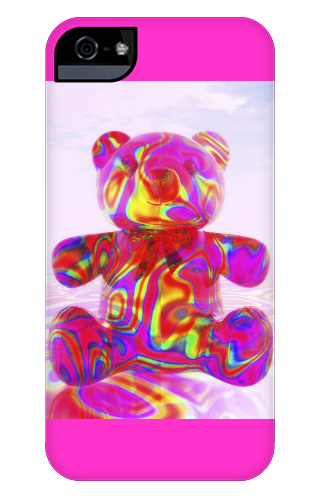 Pink Beary Bear iPhone 5 and 5s Tough Case