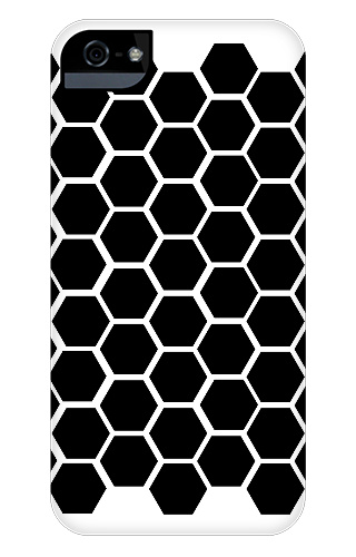 Black Honeycomb iPhone 5 and 5s Tough Case