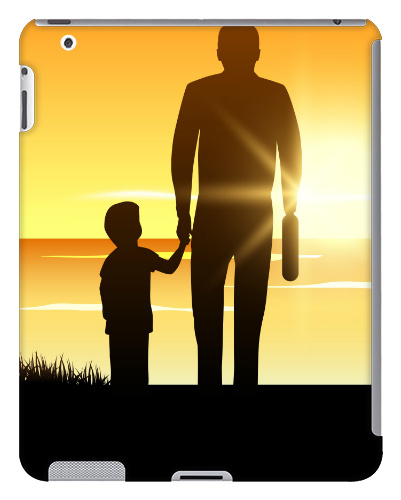 Father Sunset iPad 2 and 3 Case