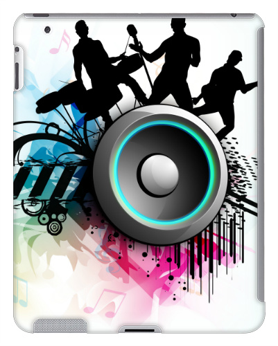 Band Jam Graphic iPad 2 and 3 Case