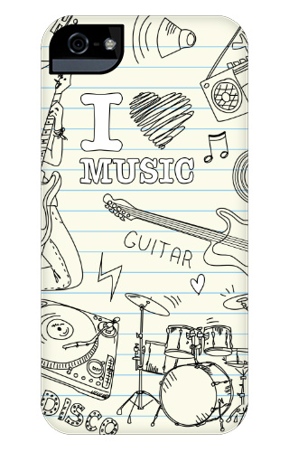 I Heart Music iPhone 5 and 5s Tough Case