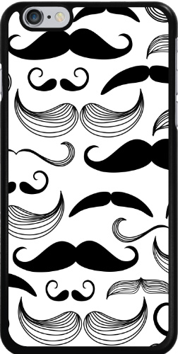 Black and White Mustaches iPhone 6 Plus Thinshield