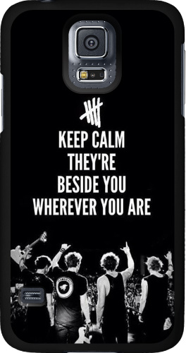 Keep Calm They're Beside You Samsung Galaxy S5 Thinshield