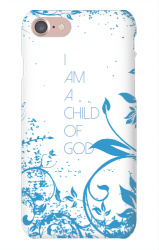 I Am A Child of God_White And Blue iPhone 7 Snap On Case