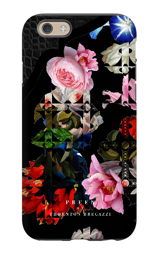 BLACK LACE FLOWER FINAL iPhone 6 Tough Case Matte