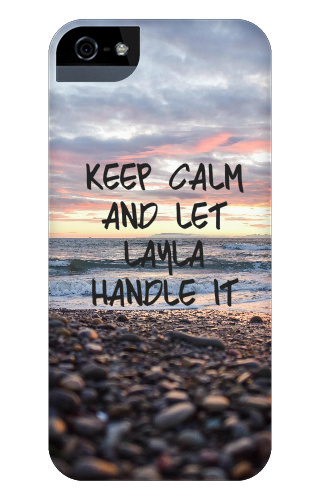 keep calm and let layla handle it iPhone 5 Case