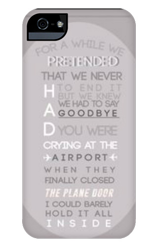 Wherever You Are 5SOS lyrics case iPhone 5 and 5s Tough Case - Designed By  New Designer 7656 - Design Your Own iPhone 5 and 5s Tough Case